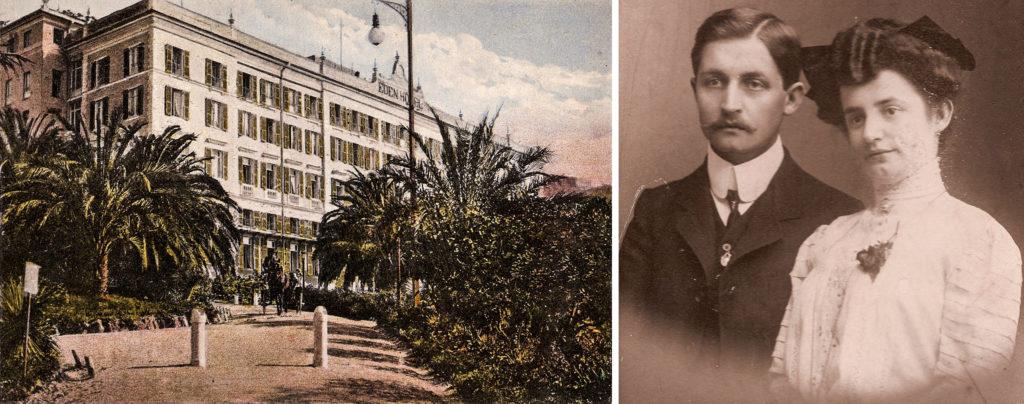 Jachen Mischol und Rosa Oberholzer arbeiteten im Hotel Eden in Nervi / Genua.